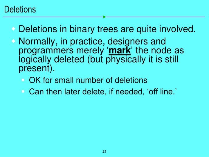 Deletions