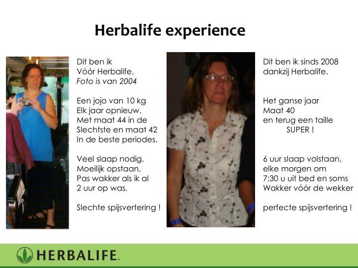 Herbalife experience