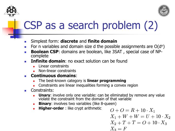 CSP as a search problem (2)