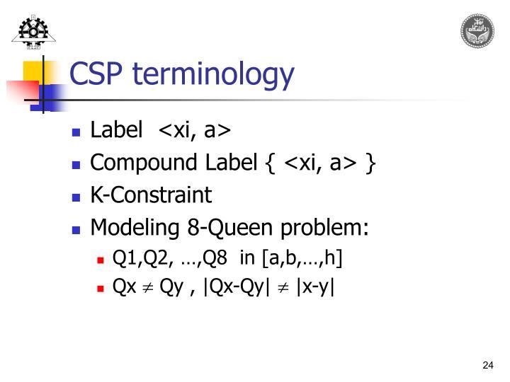 CSP terminology