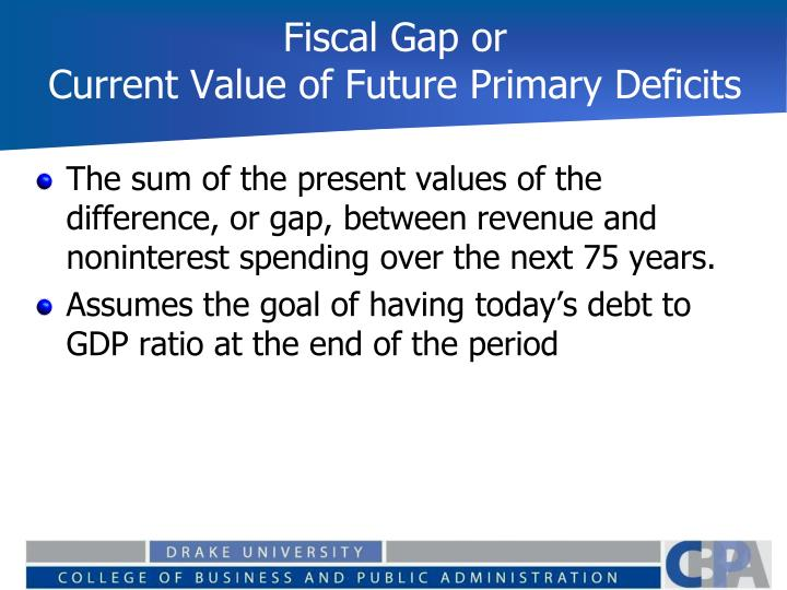 Fiscal Gap or