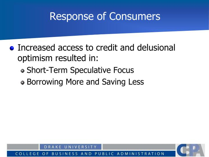 Response of Consumers