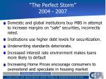 the perfect storm 2004 2007