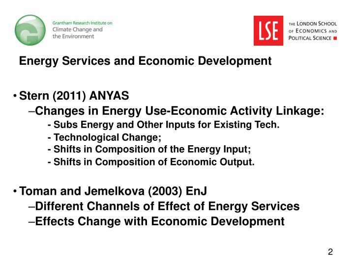 Energy Services and Economic Development