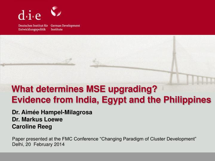 What determines MSE upgrading?