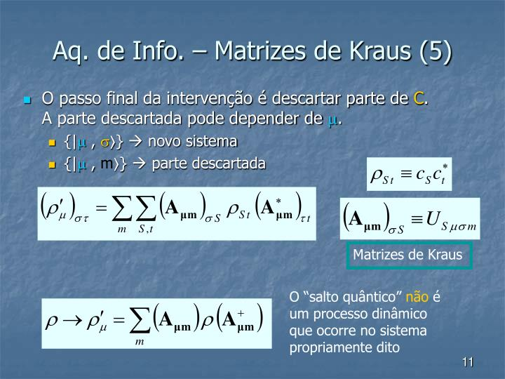 Matrizes de Kraus