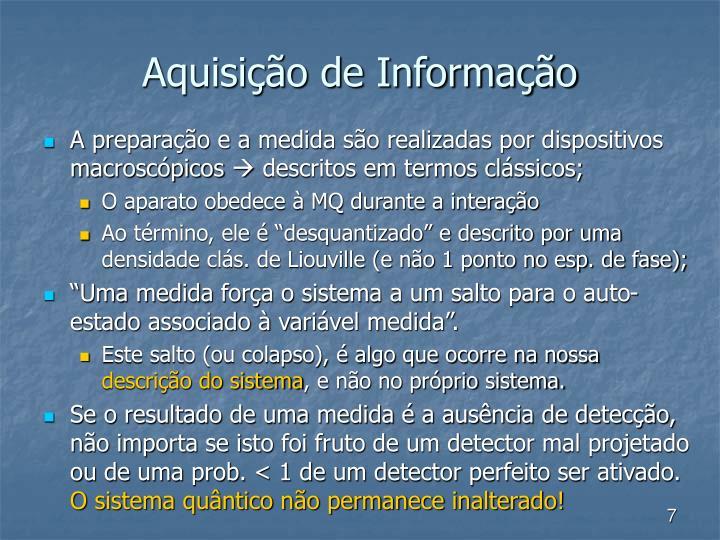 Aquisição de Informação