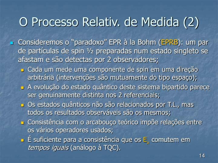 O Processo Relativ. de Medida (2)
