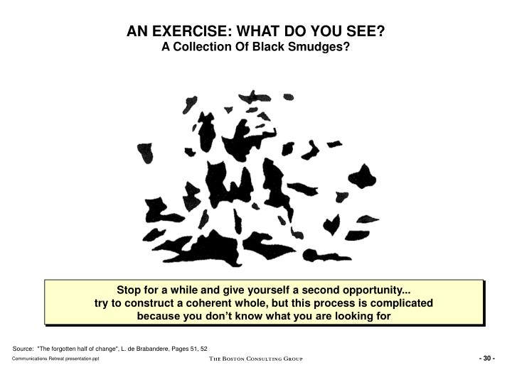 AN EXERCISE: WHAT DO YOU SEE?