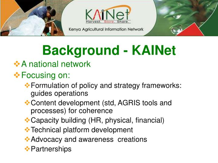 Background - KAINet