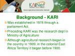 background kari