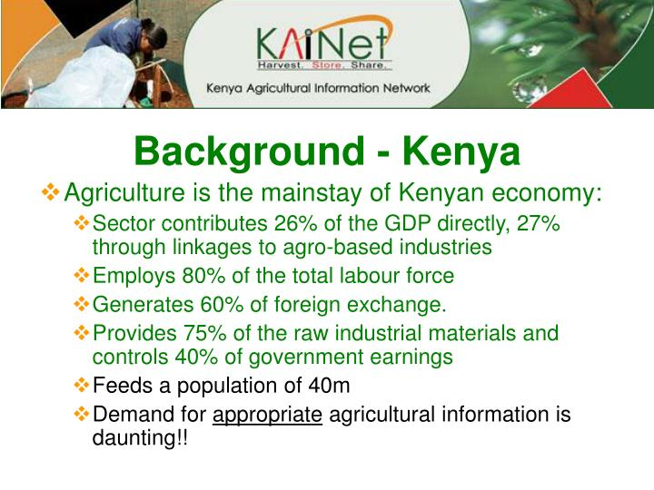 Background kenya