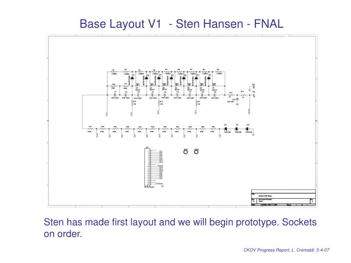 Base Layout V1  - Sten Hansen - FNAL