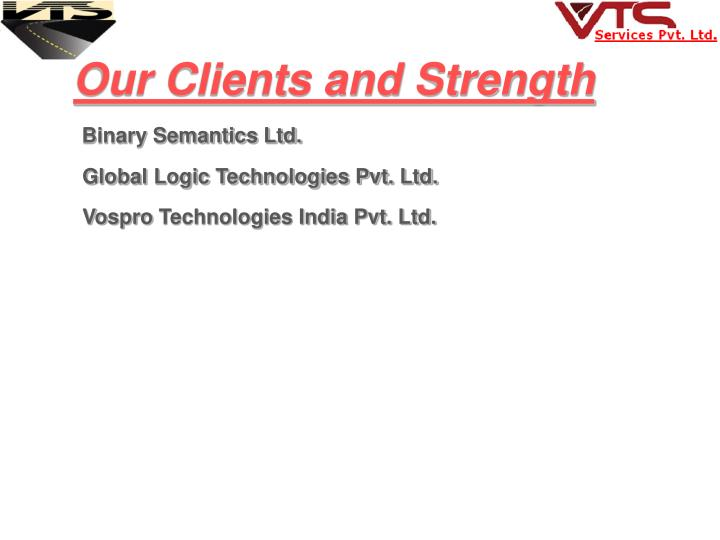 Our Clients and Strength