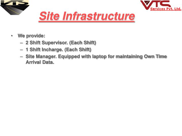 Site Infrastructure