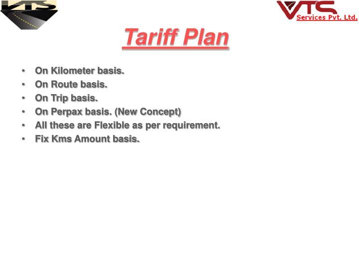 Tariff Plan