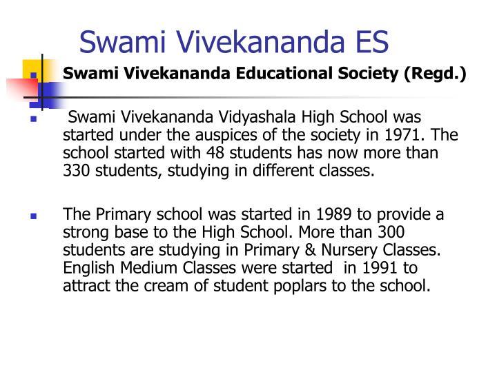 Swami Vivekananda ES