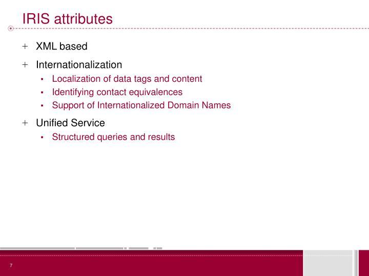 IRIS attributes