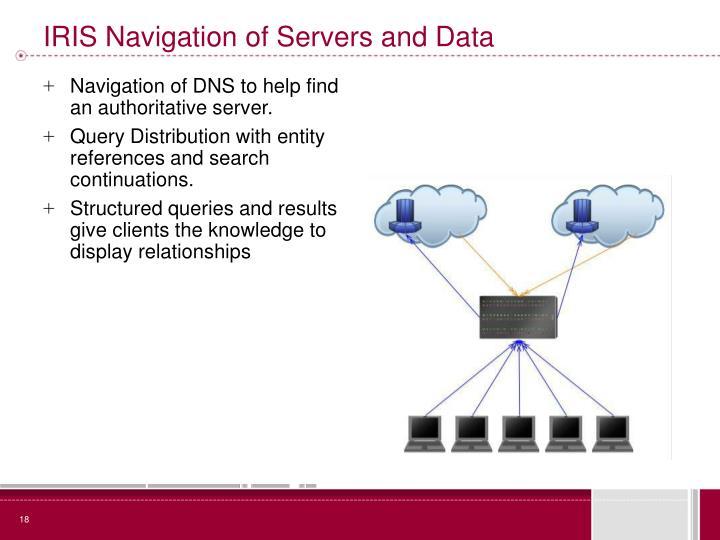 IRIS Navigation of Servers and Data
