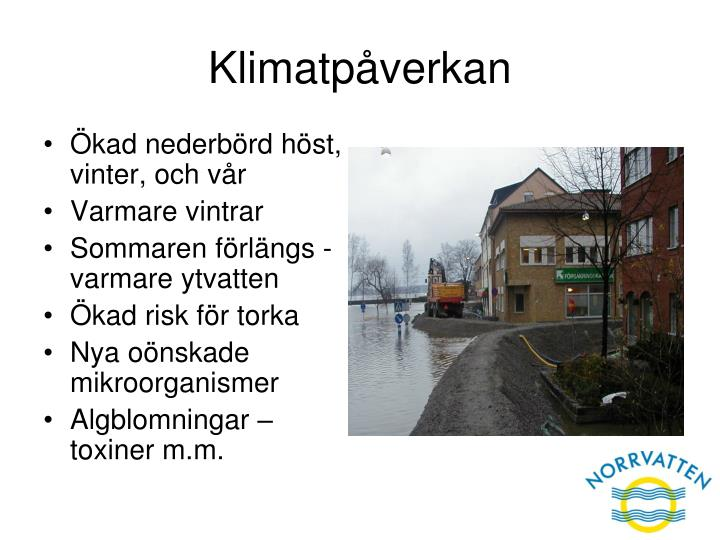 Klimatpåverkan