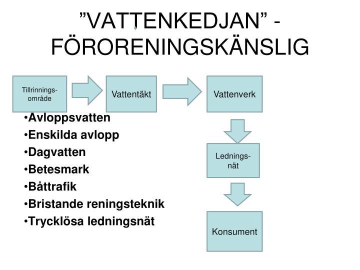 """""""VATTENKEDJAN"""" - FÖRORENINGSKÄNSLIG"""