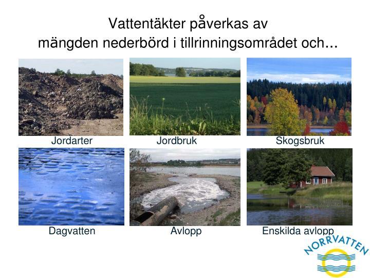 Vattentäkter