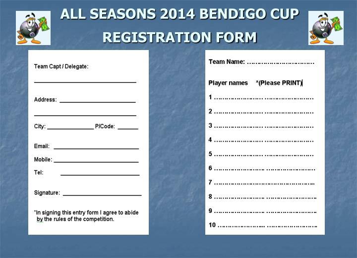 ALL SEASONS 2014 BENDIGO CUP