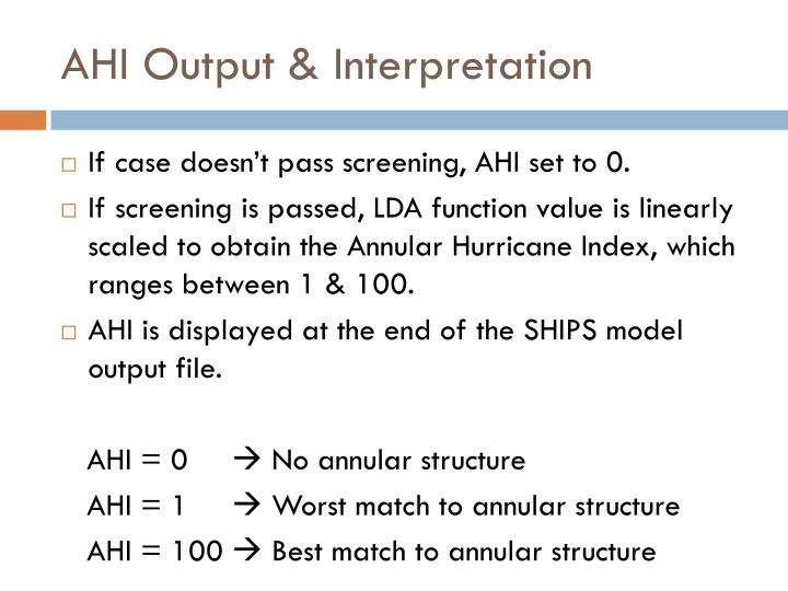 AHI Output & Interpretation