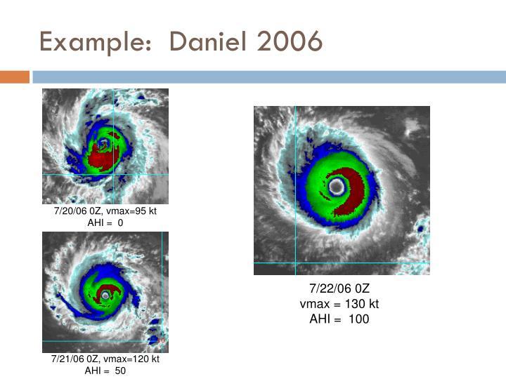 Example:  Daniel 2006