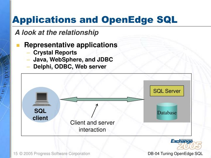 Applications and OpenEdge SQL