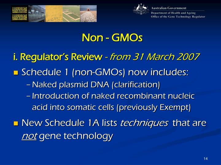 Non - GMOs