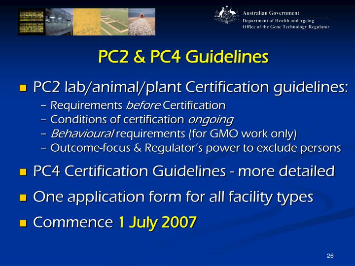 PC2 & PC4 Guidelines