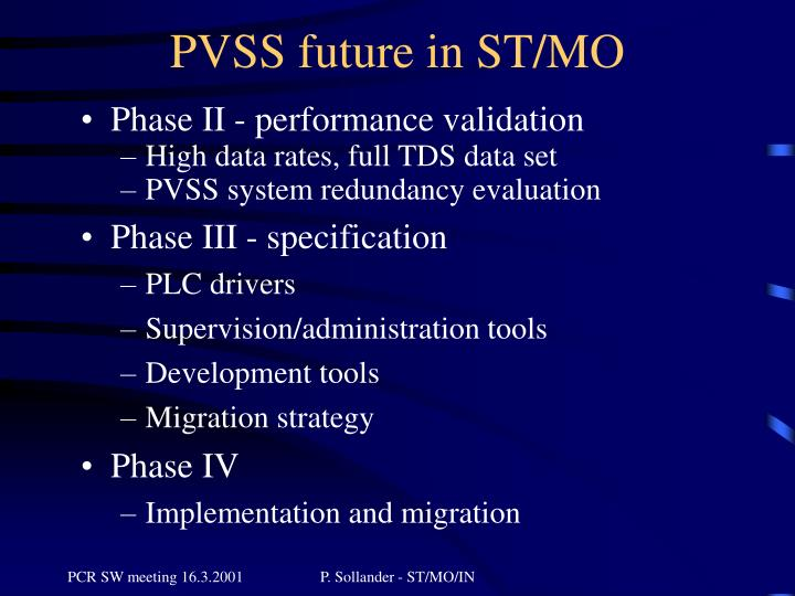 PVSS future in ST/MO