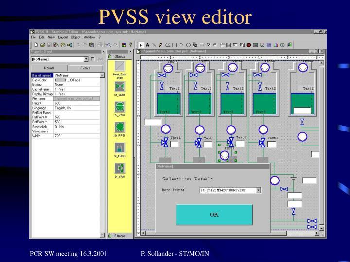 PVSS view editor
