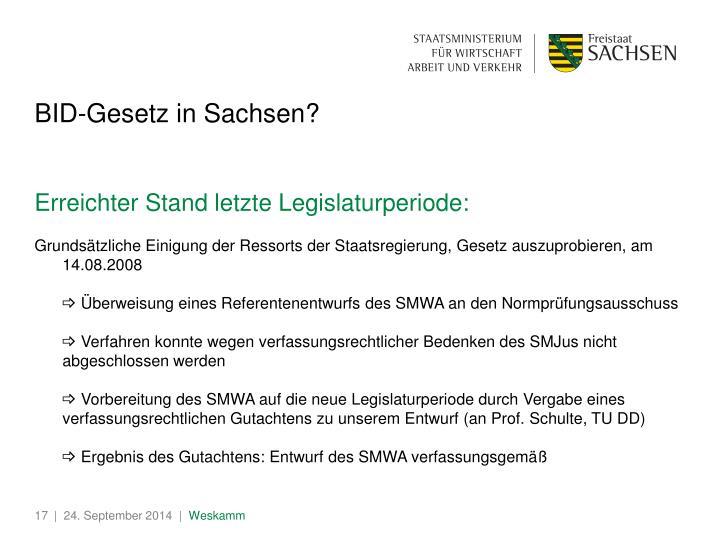 BID-Gesetz in Sachsen?