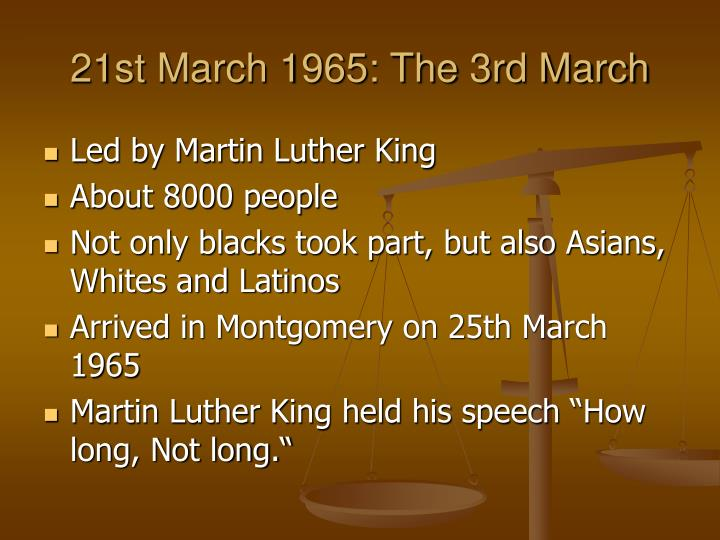 21st March 1965: The 3rd March