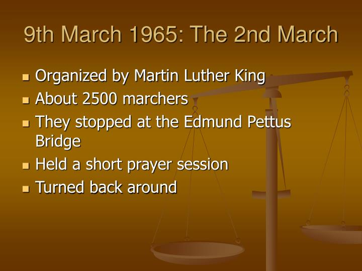 9th March 1965: The 2nd March