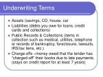 underwriting terms