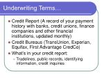 underwriting terms1