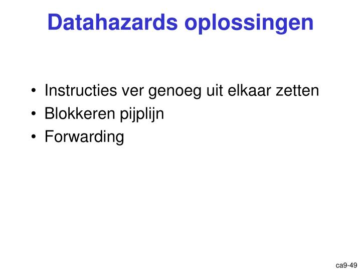 Datahazards oplossingen