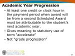academic year progression