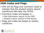 isir codes and flags