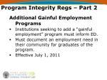 program integrity regs part 2