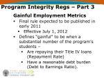 program integrity regs part 3