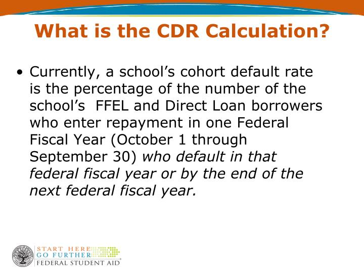 What is the CDR Calculation?