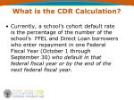 what is the cdr calculation