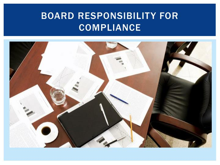 Board responsibility for compliance