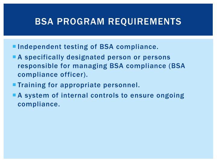 BSA Program Requirements