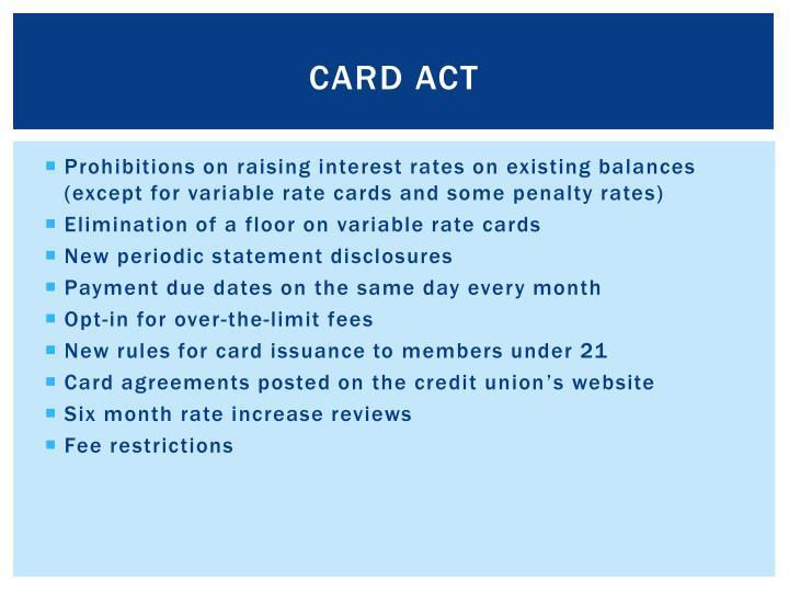 CARD Act