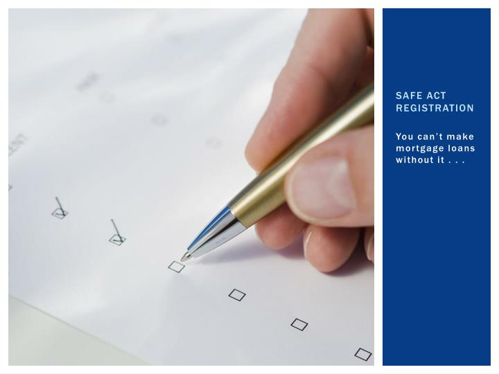 SAFE Act Registration